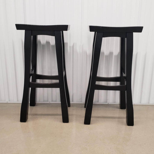 Shop Lendy - Wood bar stools (2) - Shop Lendy