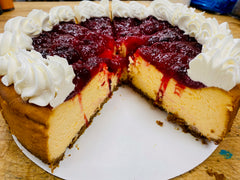 Orange Cranberry Cheesecake