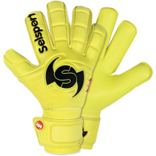 Load image into Gallery viewer, Wrappa Classic Yellow Rollfinger goalkeeper glove