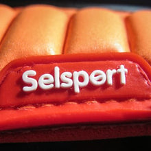 Load image into Gallery viewer, Close up of Selsport logo on the backhand