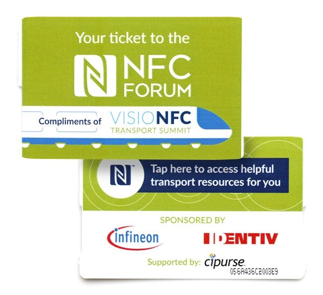 Printed Fanfold Ticket Infineon Cipurse Move (5 pack)