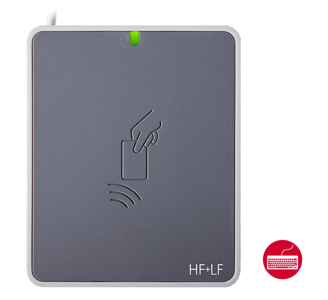 uTrust 3721 F HF+LF with Keyboard Emulation 125 Khz and 13.56 Mhz Multi-Technology Smart Card Reader/Writer
