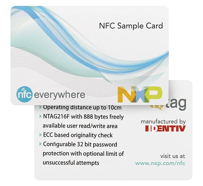 Printed Cingulated Ticket NXP NTAG216F (5 pack)