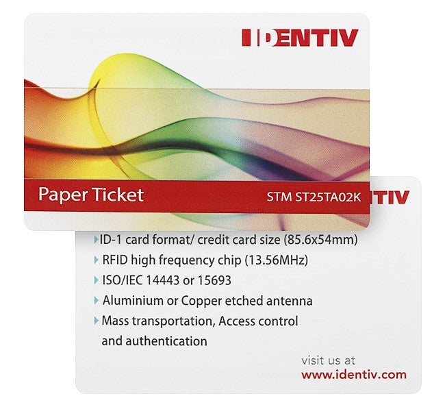 Cingulated Ticket ST ST25TA02K (5 pack)