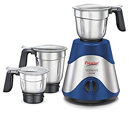 prestige Ultimate 550 Watt Mixer grinder With 3 Stainless Steel jars