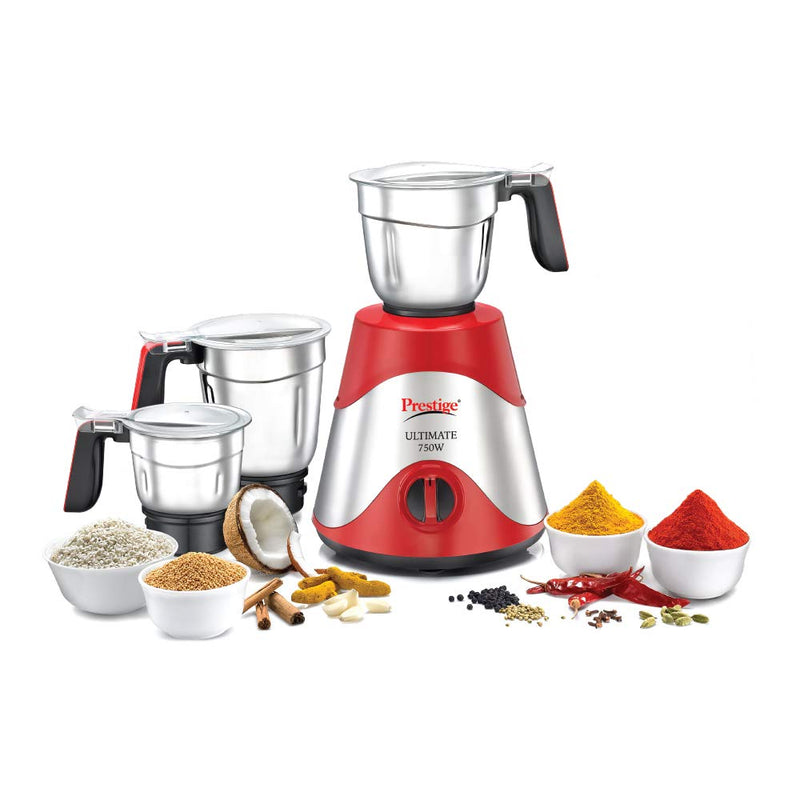 Prestige Ultimate 750W Mixer Grinder With 3 Stainless Steel Jars