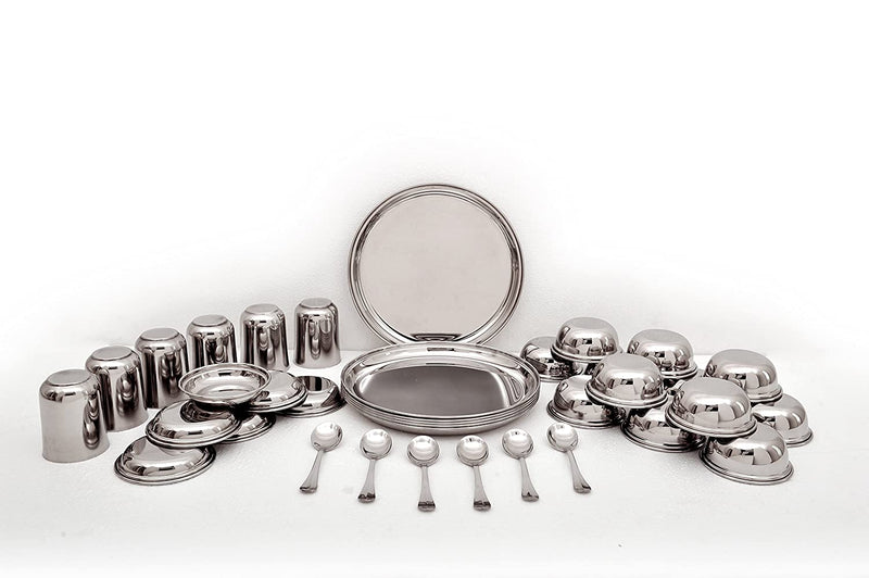 Mirror 13 inch Grande 36 Pcs Dinner Set SS Mathar - MIR0057