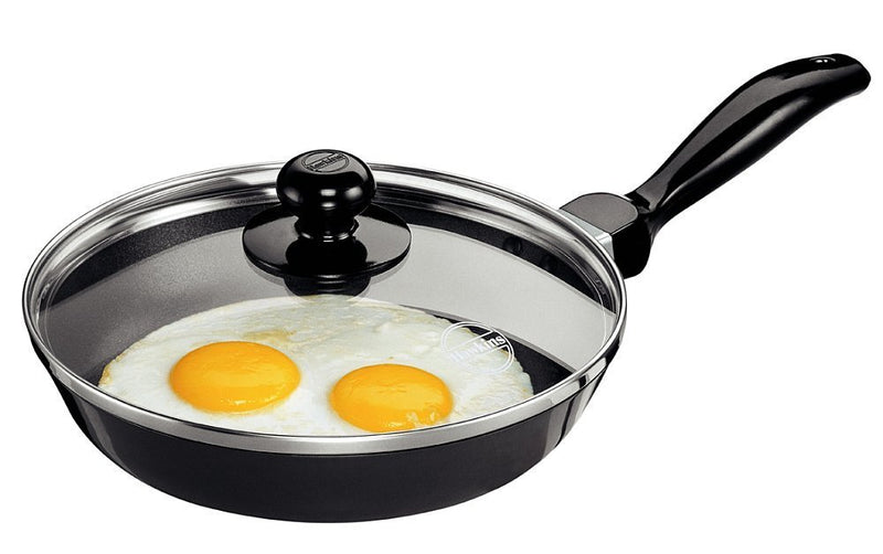 Hawkins Futura Non-Stick Frying Pan with Glass Lid, 22cm