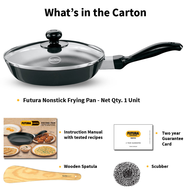 Hawkins Futura Non-Stick Frying Pan with Glass Lid