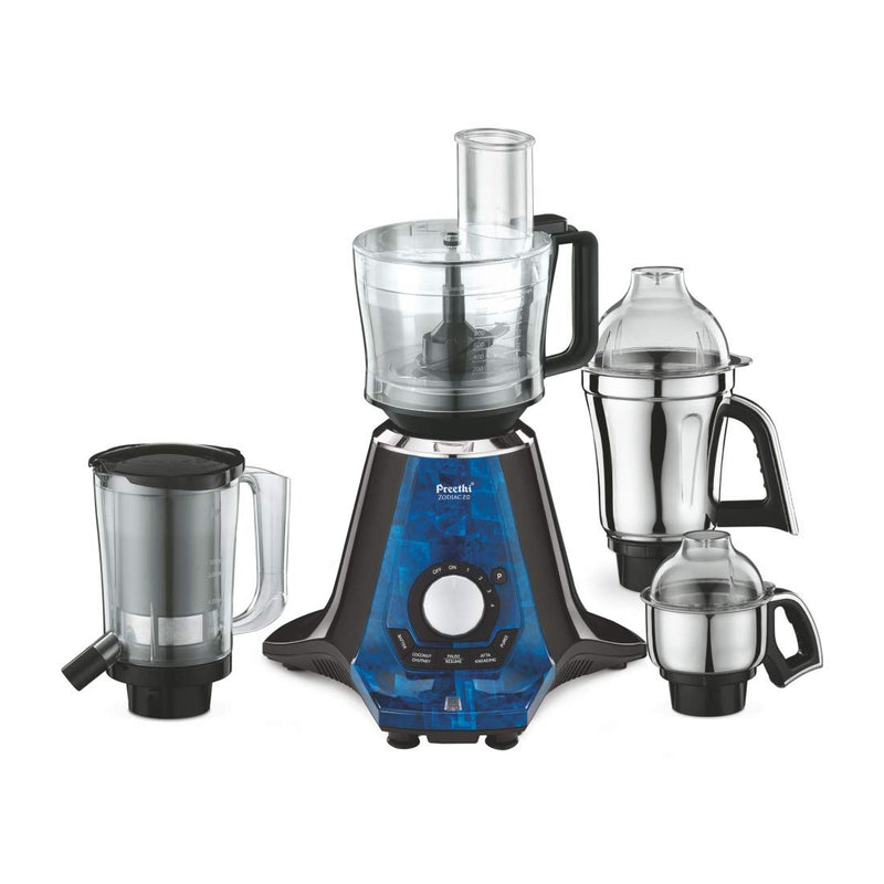 Preethi Zodiac 2.0 750-Watt Mixer Grinder with 4 Jars