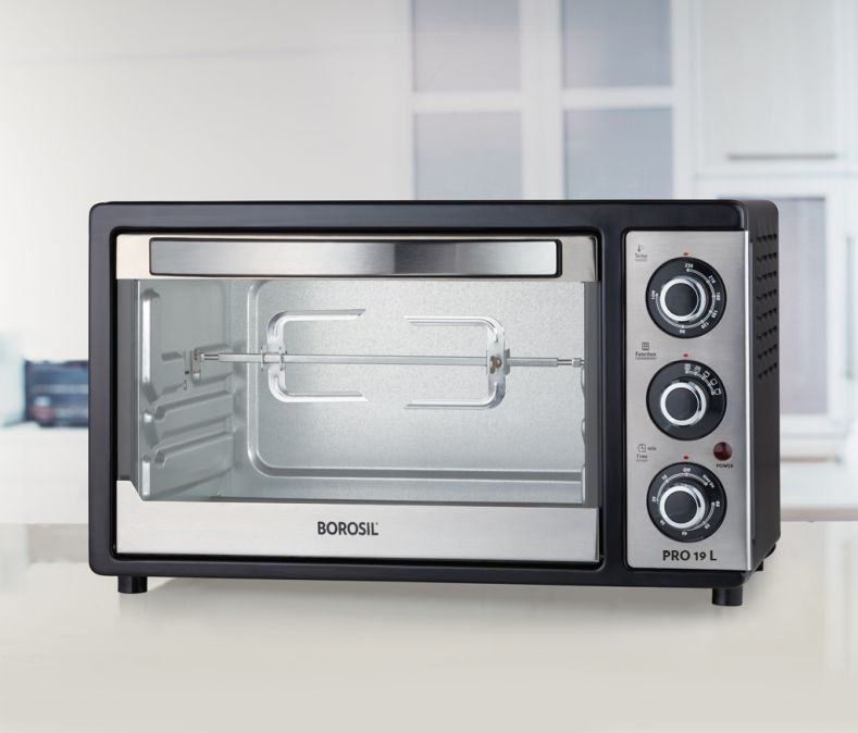 Borosil Prima 19 L OTG, with Convection, 1300 W, 5 Stage Heating Function