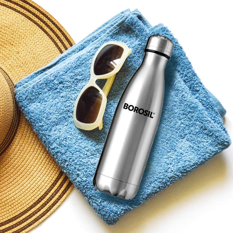 Borosil Stainless Steel Hydra Bolt - Vacuum Insulated Flask Water Bottle