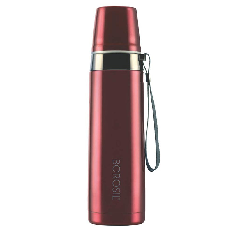 Borosil Stainless Steel Hydra Prism - Vacuum Insulated Flask Water Bottle, 650ML