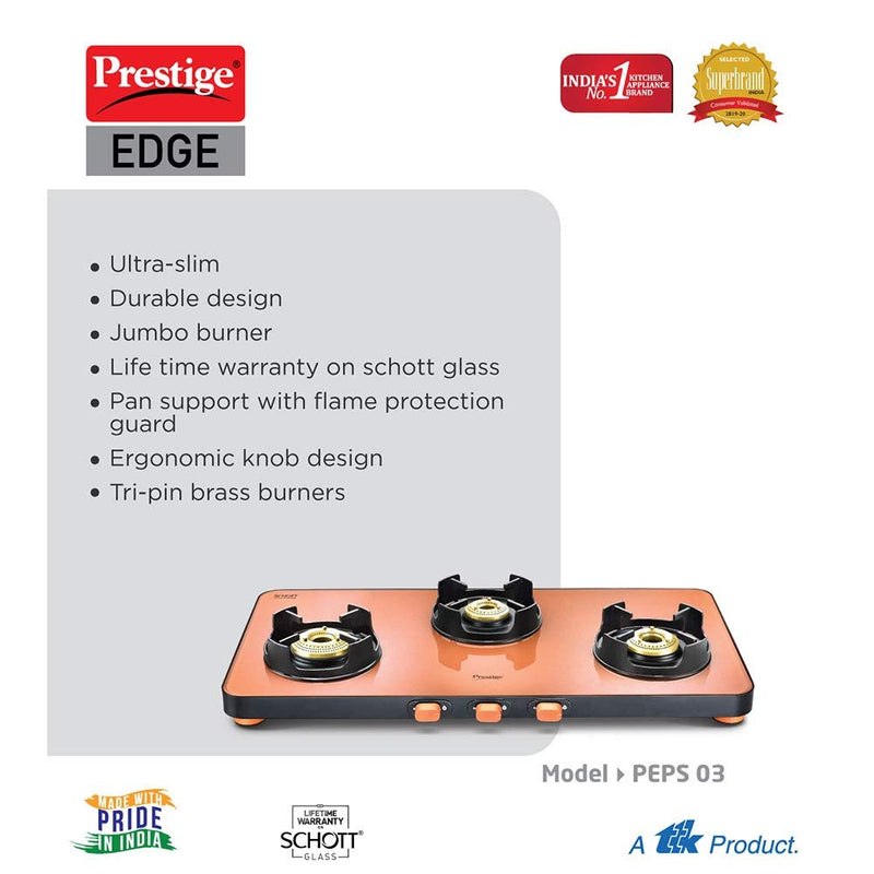 Prestige Edge Gas Table PEPS 03 L - Pastel