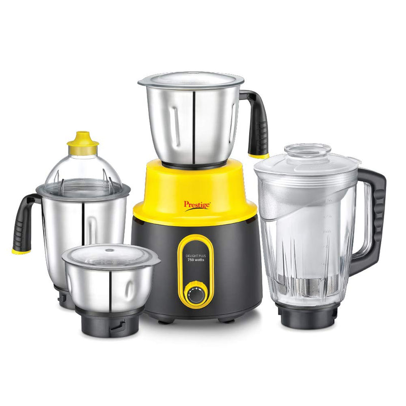 Prestige Delight Plus Mixer Grinder, 750W, 4 Jars