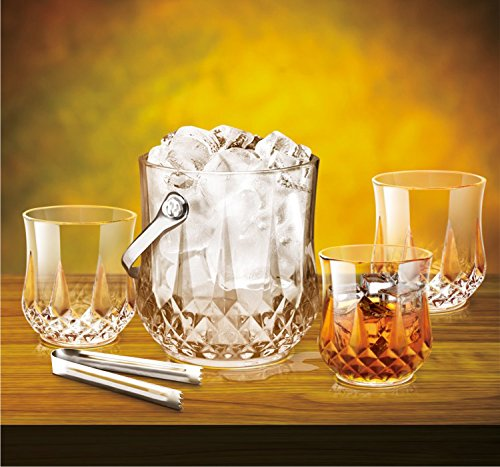 Treo By Milton Vitro on The Rockz Set of 7 (1 Ice Pail, 1100 ml and 6 Tumbler, 305 ml)