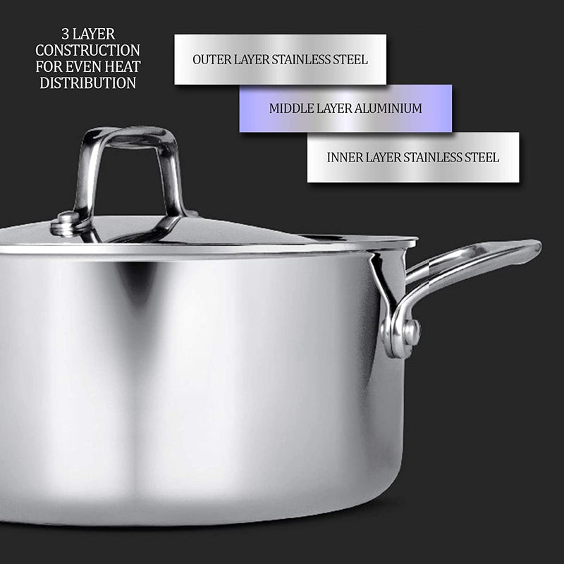 Treo by Milton Triply Stainless Steel Casserole with Lid