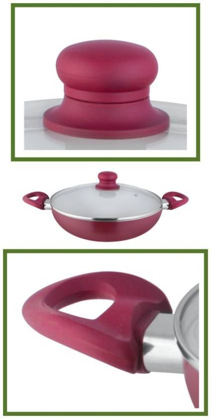 Shri & Sam Caldera Kadai with Glass Lid 26 CM Induction Bottom Cookware Set  (Stainless Steel, 1 - Piece)