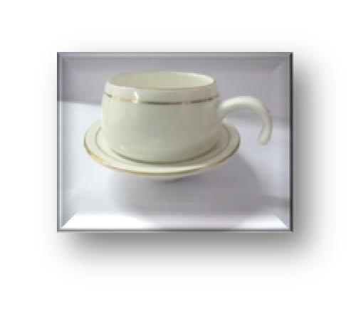 Oasis Coffee Cup Saucer Set of 6 + 6 - Lily  White - RSLYGL
