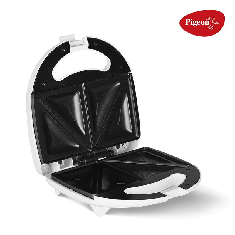 Pigeon Egnite Pluse Bread Sandwich Maker with Aluminium Nonstick Coated Fixed Plates (Toaster)