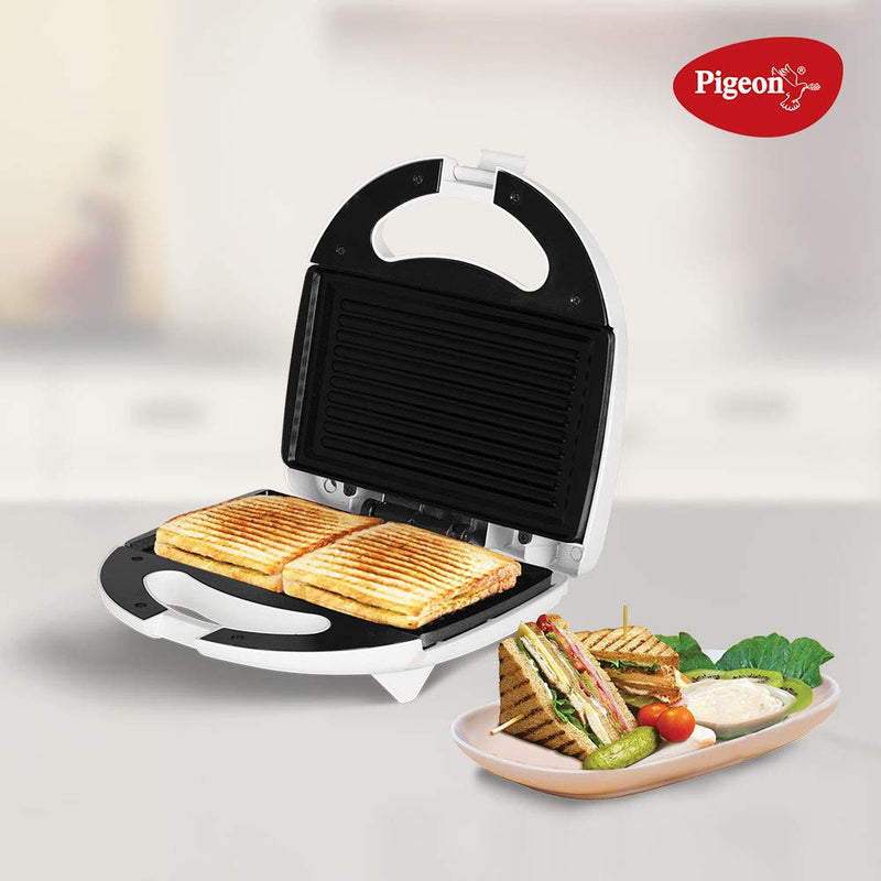 Pigeon Egnite Plus Sandwich Griller (White)