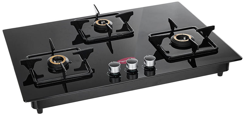 Pigeon by Stovekraft Hobtop Stainless Steel 3 Burner Gas Stove, Black