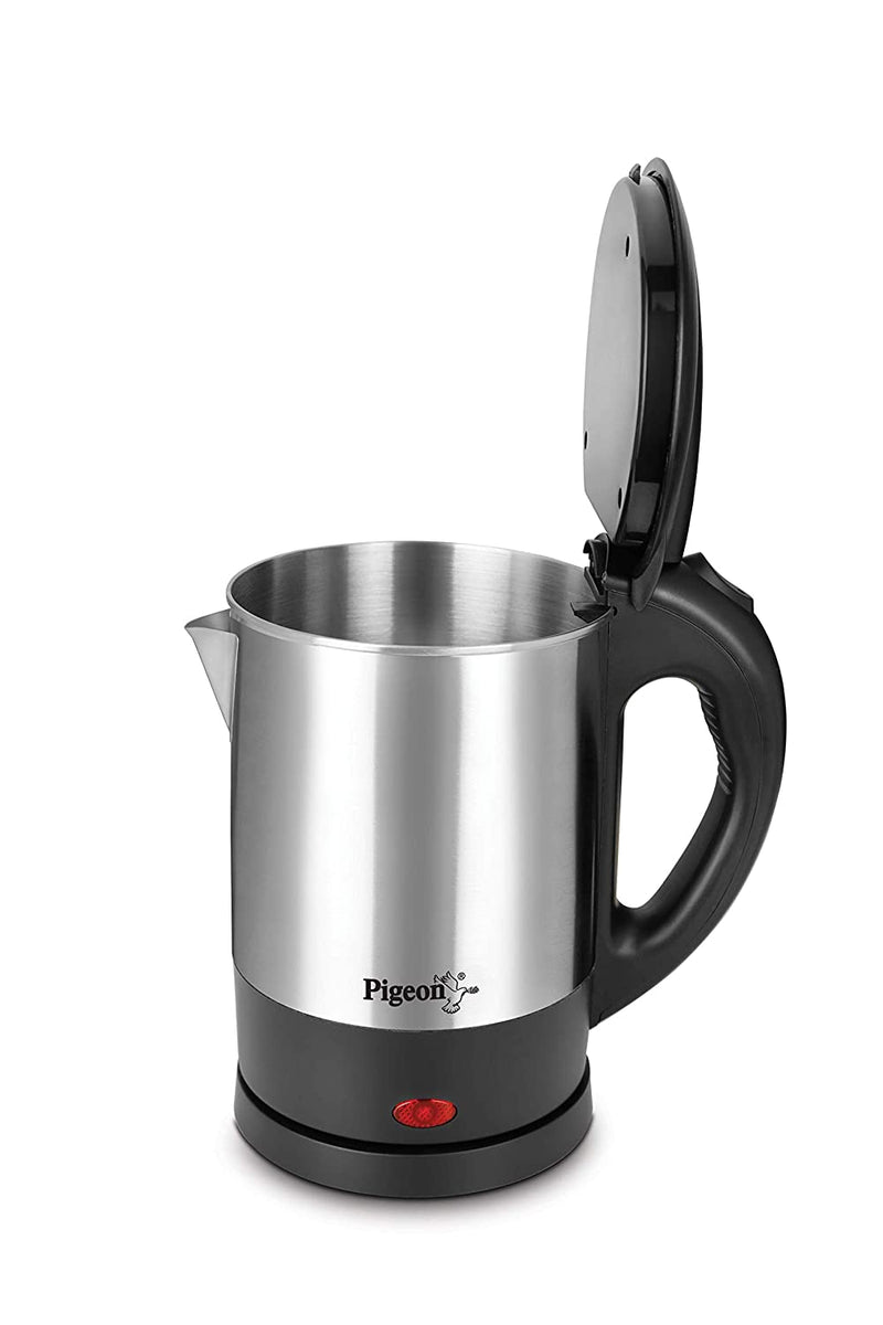 Pigeon by Stovekraft Steelo Kettle with Stainless Steel Body, 1 litres Boiler for Water, Milk, Tea, Coffee, Instant Noodles, Soup etc.