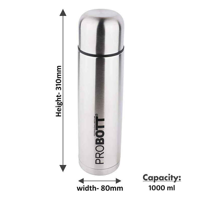 PROBOTT Thermosteel Old Edition Vacuum Flask 1000ml -Silver PB-1000-02