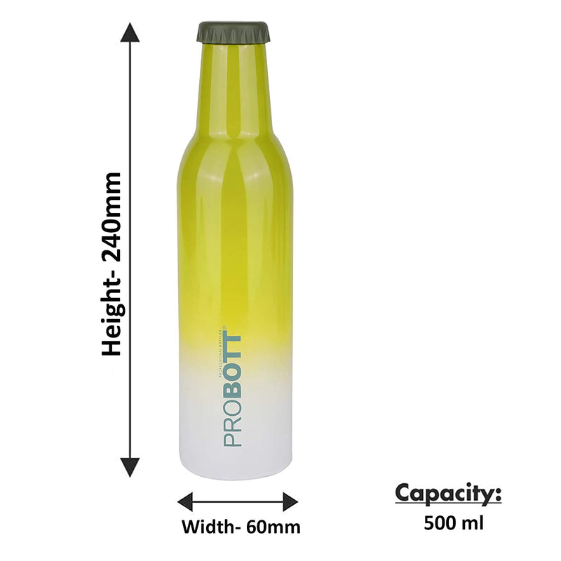 PROBOTT Thermosteel Cold Drink Vacuum Flask 500ml -Green PB 500-33