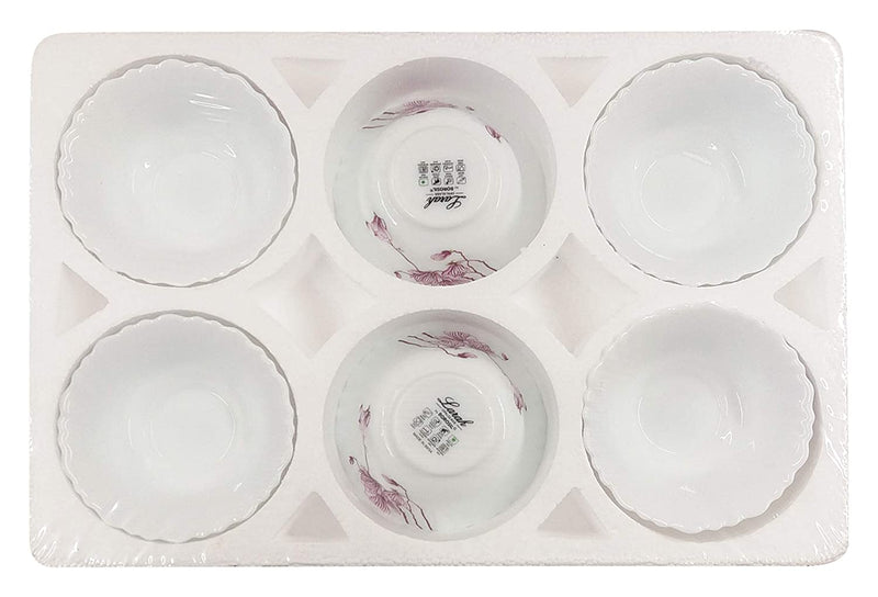 Larah Lily Blossom Opal Glass Candy Bowl, 185ml, 6 Pieces