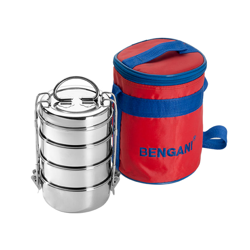 Bengani Stainless Steel Dura Hot Lunch Box with Insulated Carry Bag