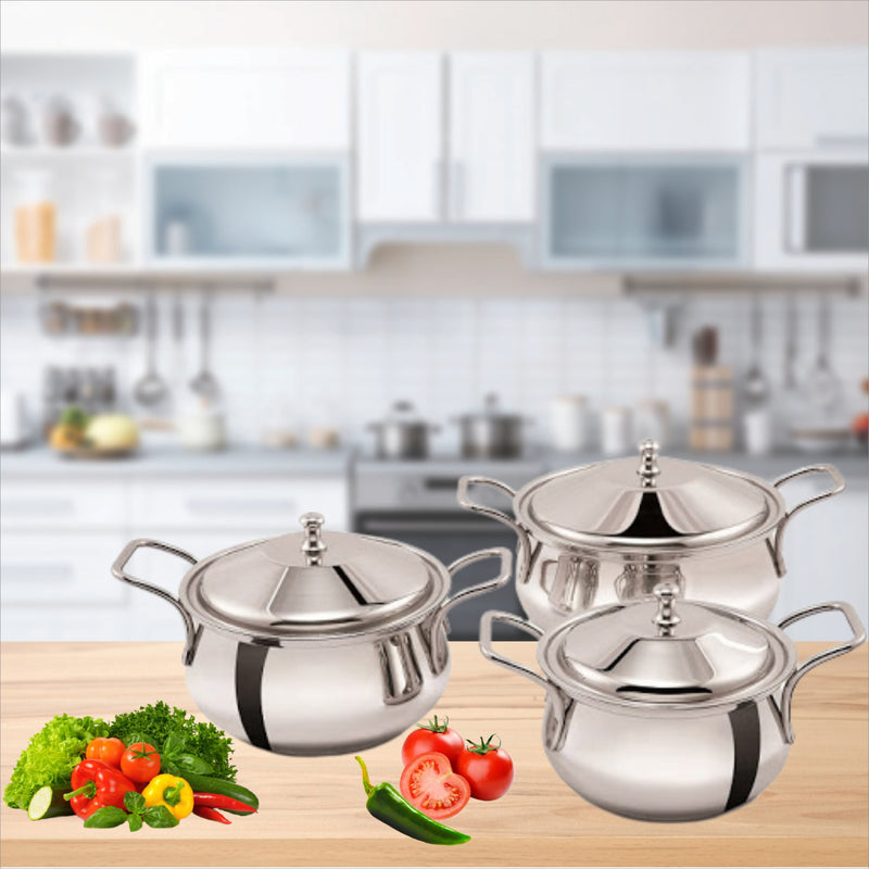 Mirror Royale Handi Set of 3 Pieces  - Non Induction