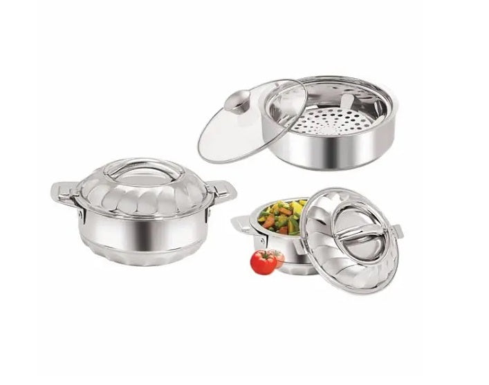 Nano9 3 Pieces Stainless Steel Casserole set - N9COM001
