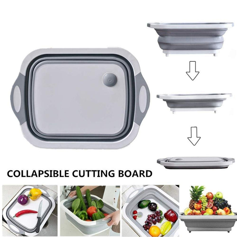 Rasoishop Multifunctional Silicon Kitchen Foldable  Cutting, Chopping Board