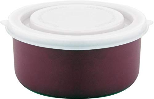 RasoiShop Microsafe SS Round Dabba with Plastic Lid