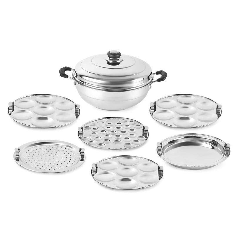 Softel Stainless Steel Multipurpose Kadai, 6-Pieces, Silver