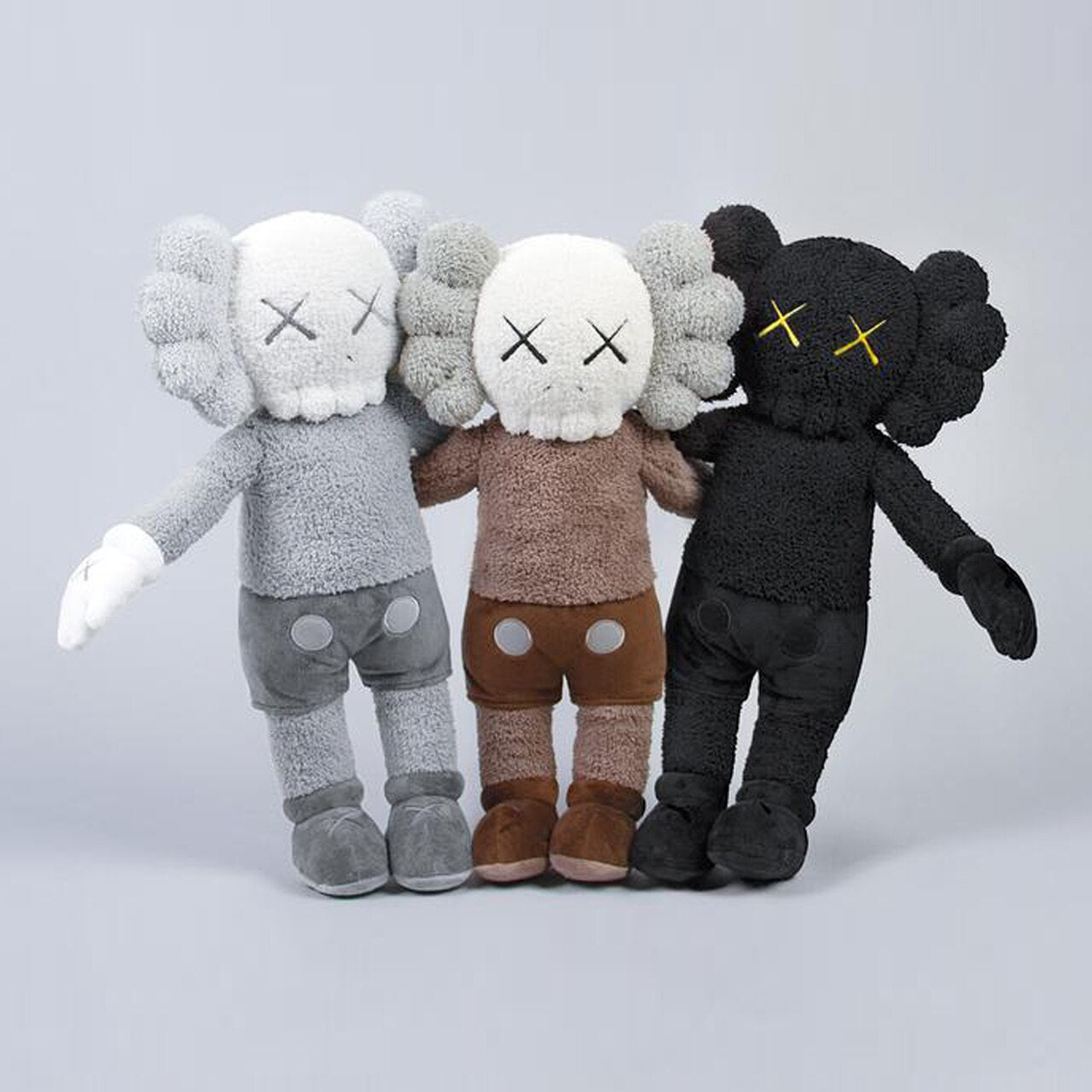 "KAWS: Holiday - Hong Kong Companion Plush 20"" Set of 3 Multicolor"