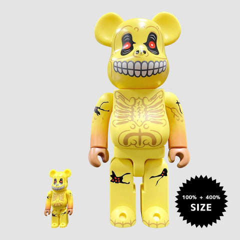 MEDICOM TOY: BE@RBRICK - Skull Face Mad Balls 100% & 400%