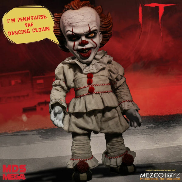 "Mezco Toyz: MDS Mega Scale - IT Talking Pennywise 15"" Figure"