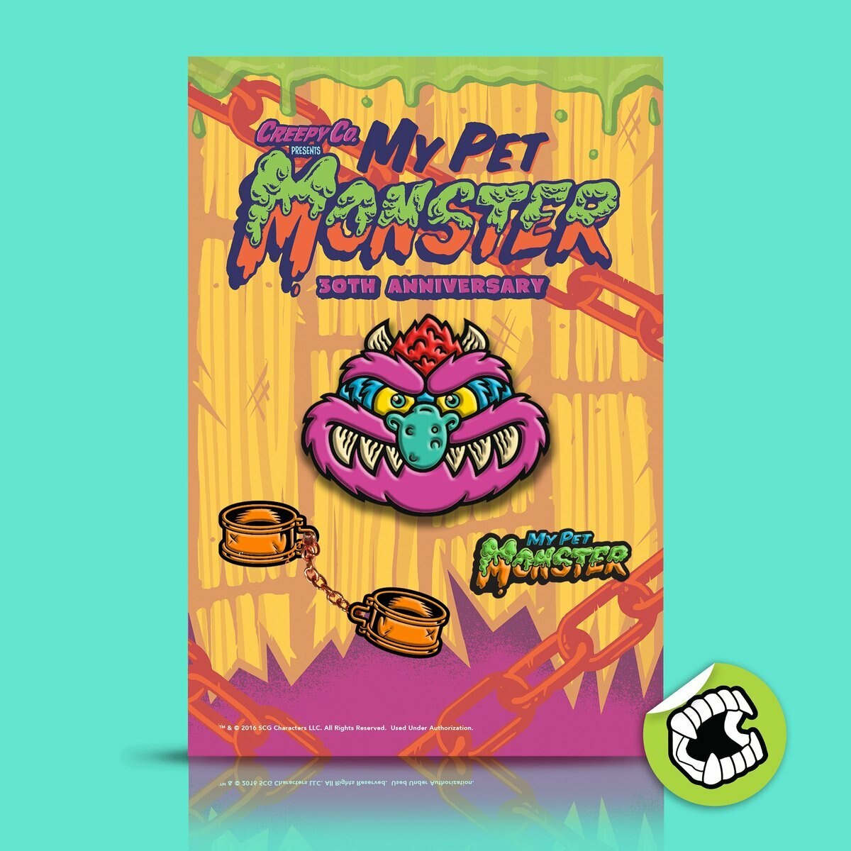 Creepy Co. My Pet Monster 30th Anniversary Enamel Pin Set