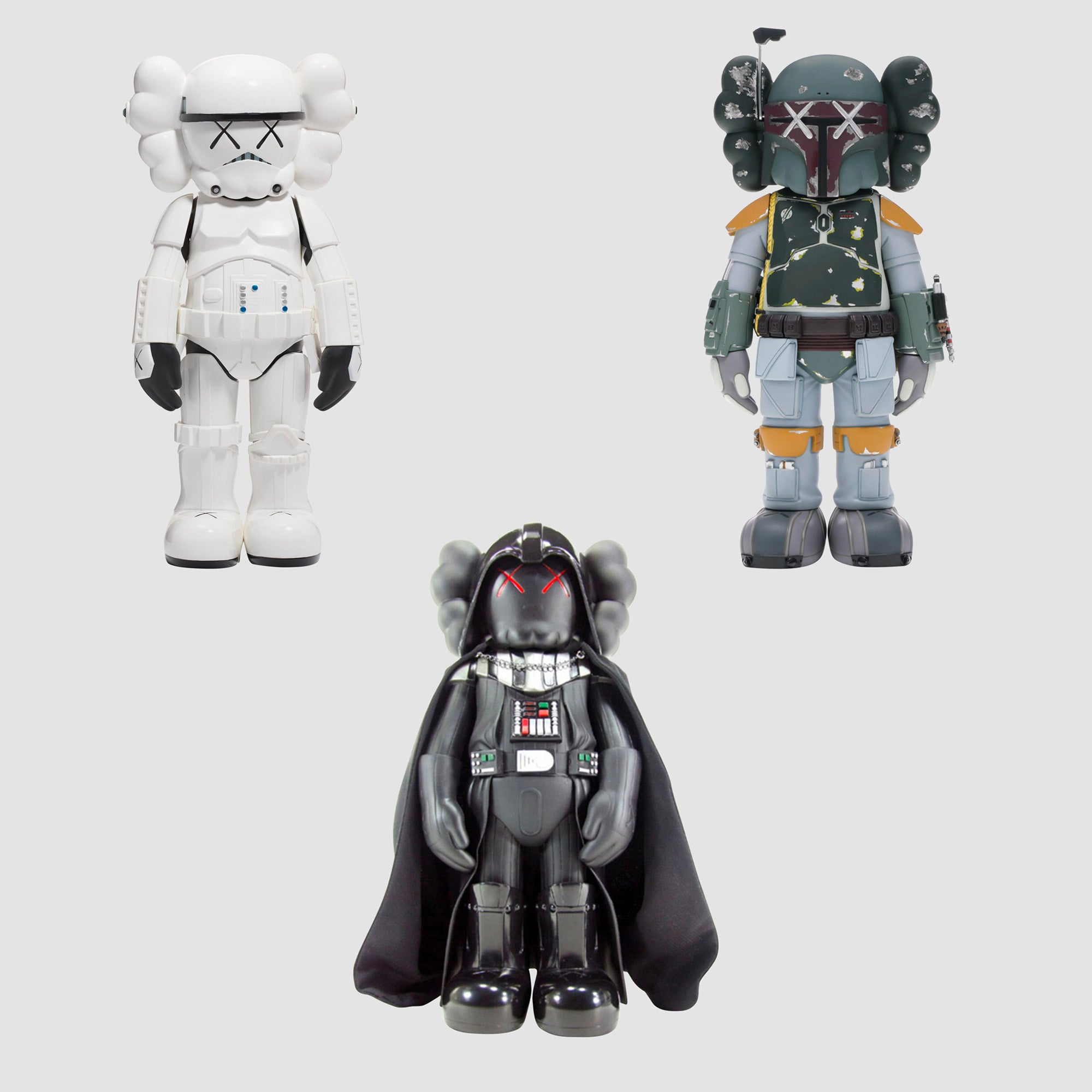 KAWS - Star Wars Set of 3 Vader, Stormtrooper, Boba Fett Companion, 2008-2013
