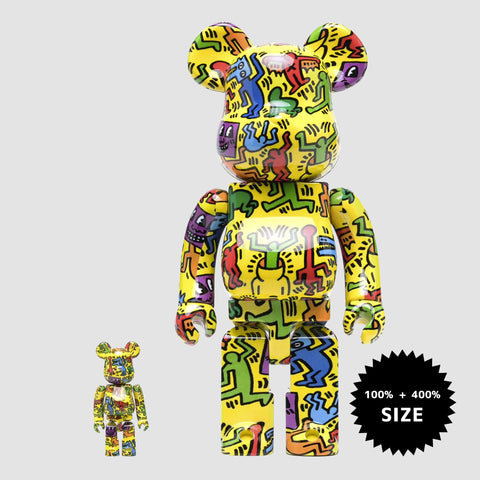 MEDICOM TOY: BE@RBRICK - Keith Haring #5 100% & 400%