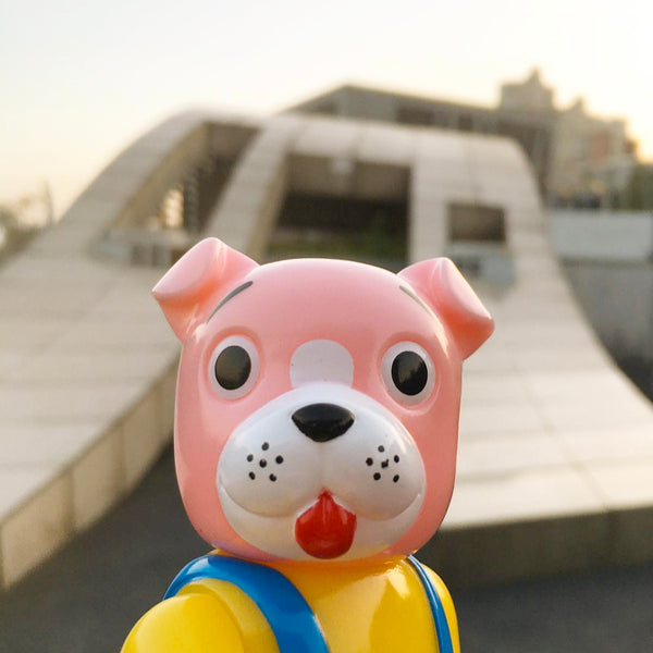 Pointless Island x Awesome Toy - Worker Dog Pink Sofubi Figure