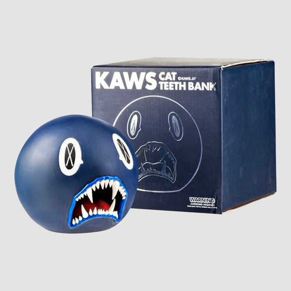 KAWS - Cat Teeth Bank Blue