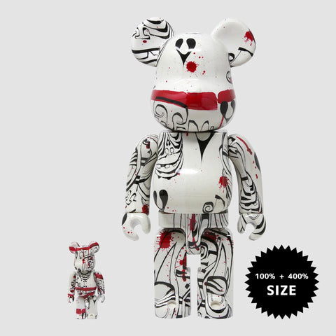 MEDICOM TOY: BE@RBRICK - Phil Frost White 100% & 400%