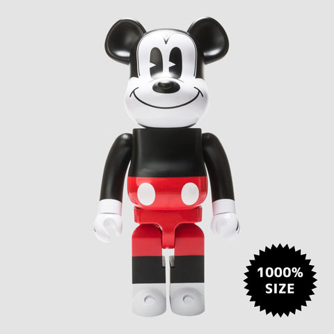 MEDICOM TOY: BE@RBRICK - Disney Mickey Mouse Red & White 1000%
