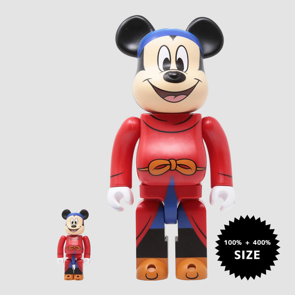 MEDICOM TOY: BE@RBRICK - Disney Fantasia Mickey Mouse 100% & 400%