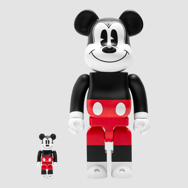 MEDICOM TOY: BE@RBRICK - Disney Mickey Mouse Red & White 100% & 400%