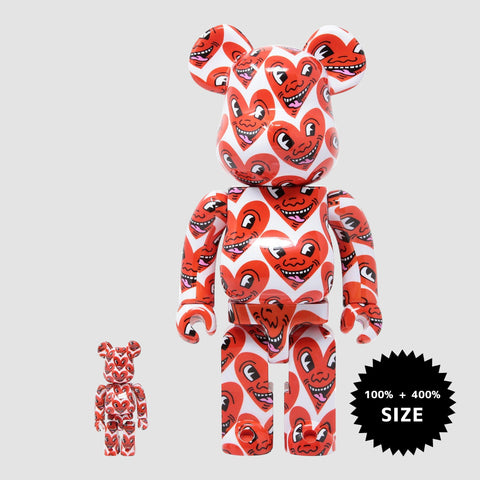 MEDICOM TOY: BE@RBRICK - Keith Haring #6 100% & 400%