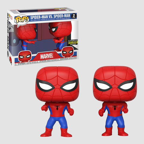 Funko Pop! Marvel: Spider-Man vs. Spider-Man 2 Pack Entertainment Earth Exclusive